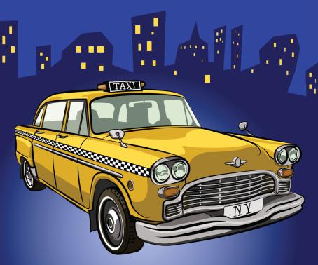 Vector taxi cab.
