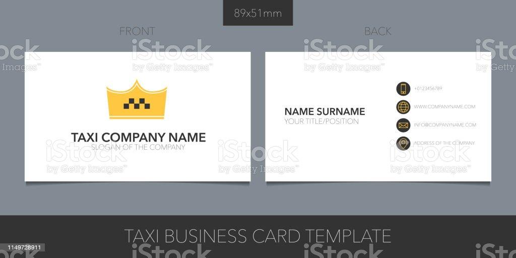 Taxi Kabinenvektorlayout Der Visitenkarte Mit Icon Und