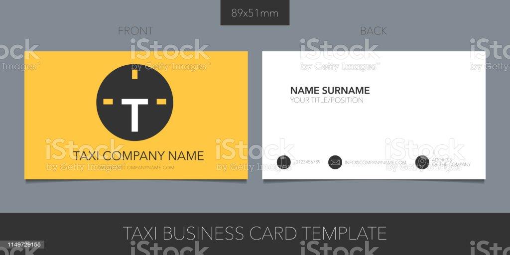 Taxi Kabinenvektorlayout Der Visitenkarte Mit Logo Icon Und