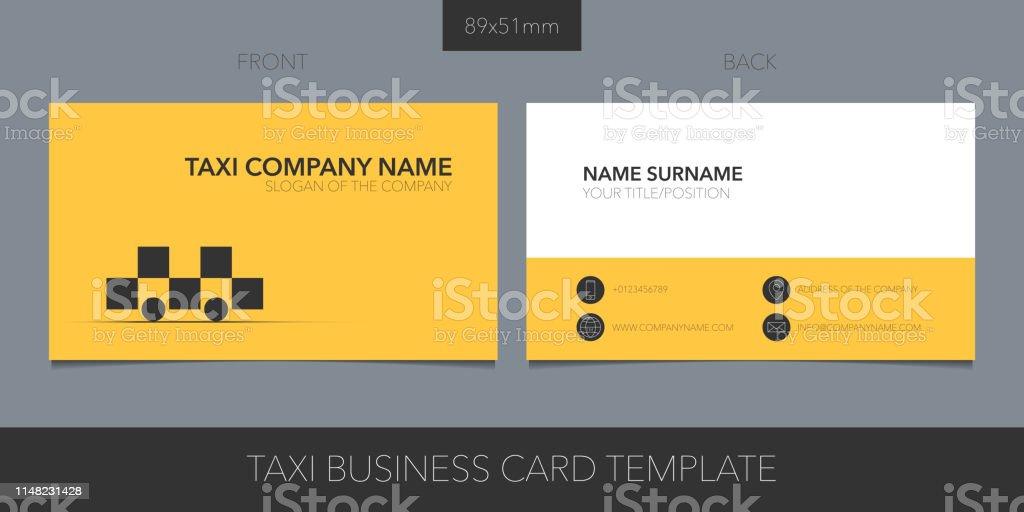 Taxi Kabine Vektorvorlage Visitenkarte Mit Firmenlogo Symbol