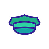 Taxi cap icon vector. Thin line sign. Isolated contour symbol illustration