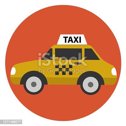 Taxi car cartoon icon vector illustration flat design