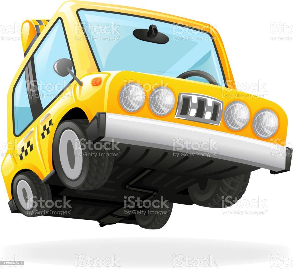 Taxi Car Icon Yellow Cab Transportation Urban Automobile Icon