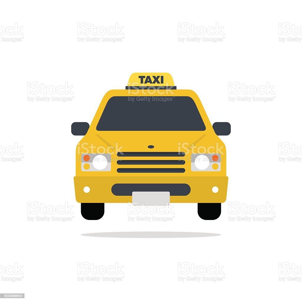 Taxi car vector flat design illustration vector art illustration