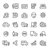 Taxi, carsharing, icon, icon set, car, transportation, car rental