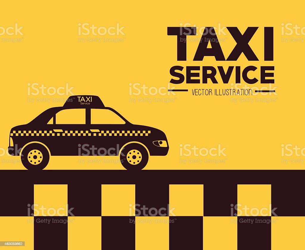 Taxi design, vector illustration. vector art illustration