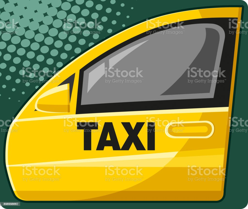 Taxi door (vector) vector art illustration