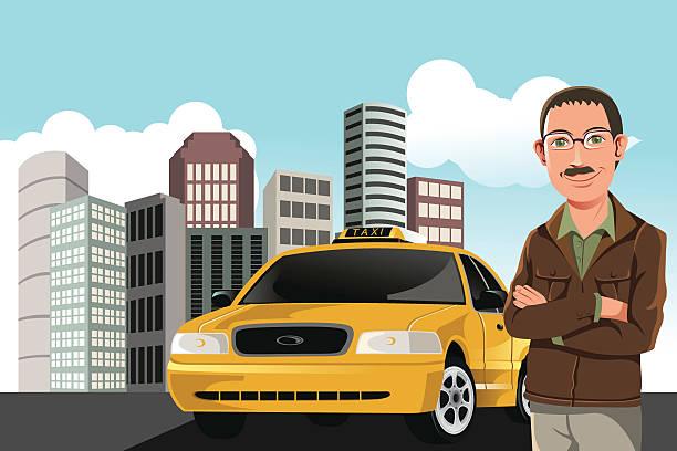 taxi driver  - fahrzeug fahren stock-grafiken, -clipart, -cartoons und -symbole