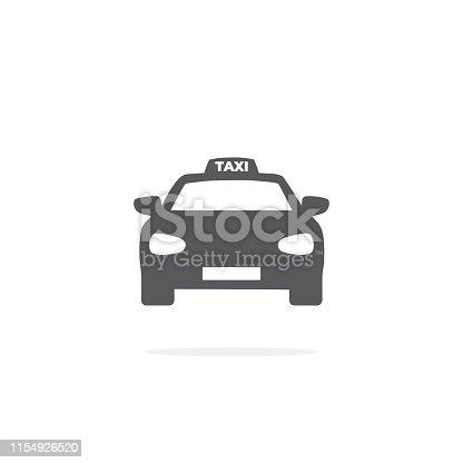 istock Taxi Icon on white background. 1154926520