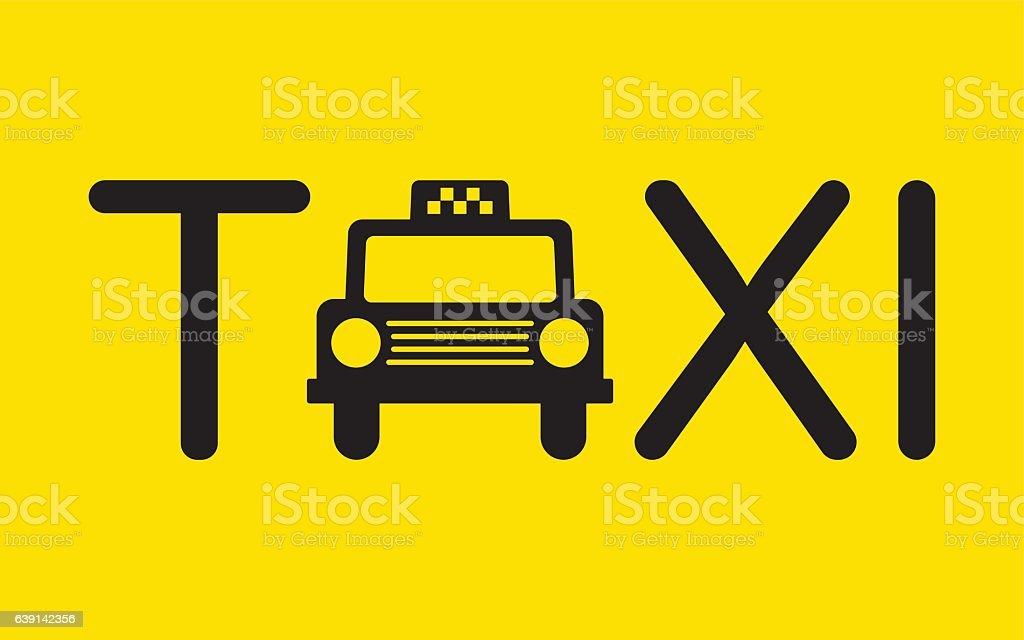 Taxi Icon Symbol Vector Illustration vector art illustration