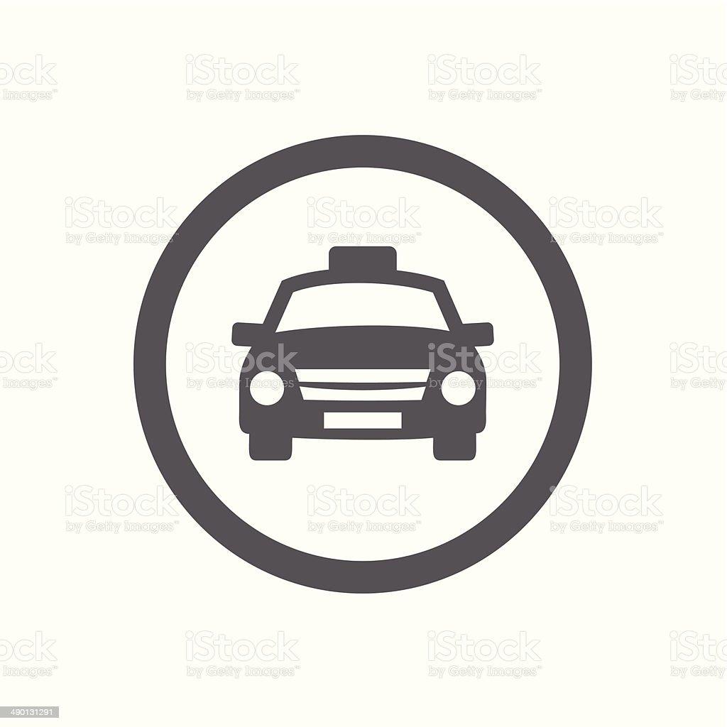 Taxi icon vector art illustration