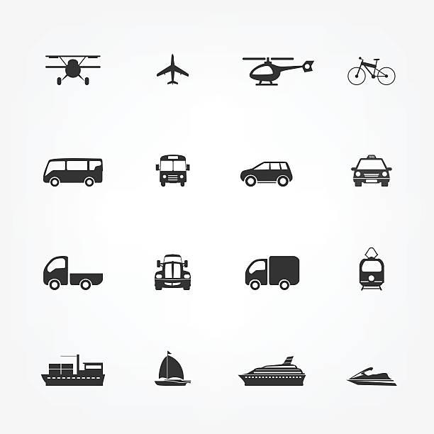 stockillustraties, clipart, cartoons en iconen met taxi icons set, flat style - mens gemaakte ruimtes