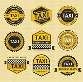 Taxi insignia, vintage style