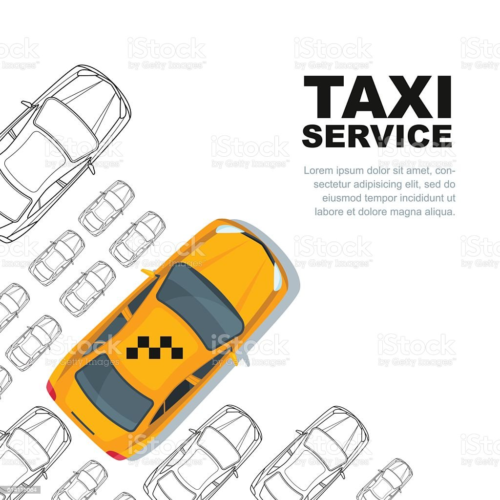taxi service concept vector banner poster or flyer background