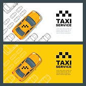Taxi service concept. Vector banner, poster or flyer background
