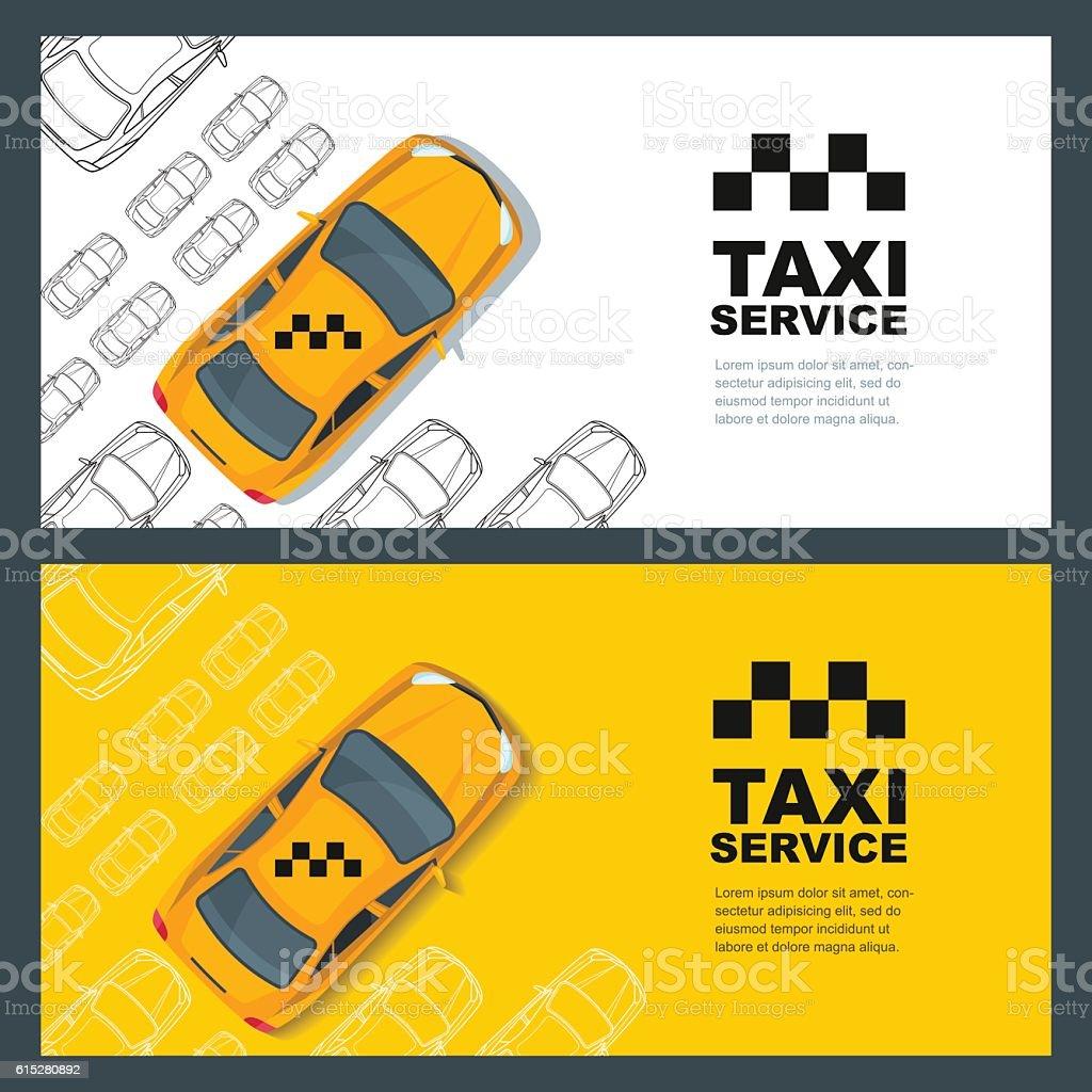 Taxi service concept. Vector banner, poster or flyer background vector art illustration