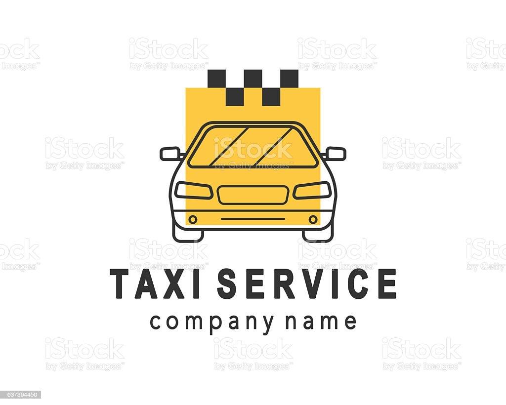 Taxi service logo design vector art illustration