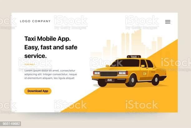Taxi services mobile app website template retro yellow cab home page vector id955149682?b=1&k=6&m=955149682&s=612x612&h=sxvcgqq8qfbf2nxqzozquhgjgkig76huli7tqzvos0c=