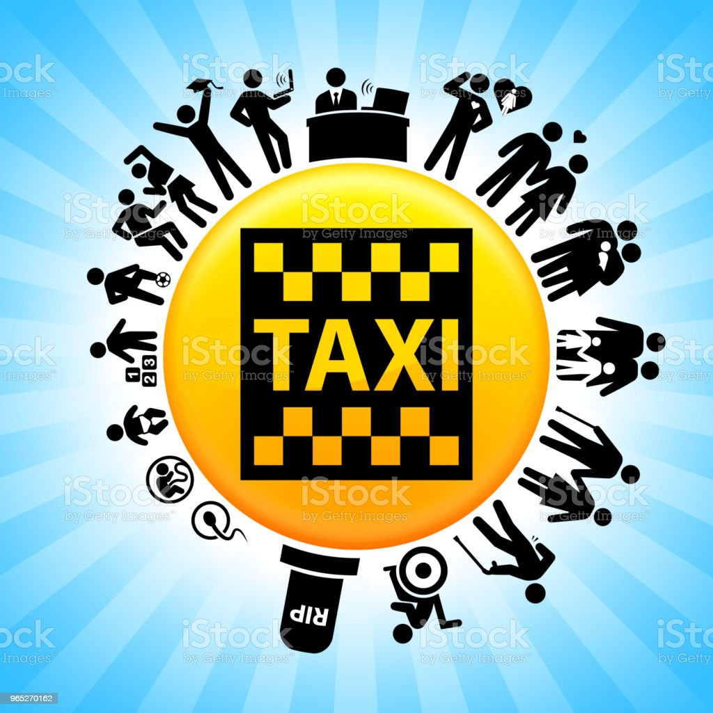 Taxi Sign Lifecycle Stages of Life Background royalty-free taxi sign lifecycle stages of life background stock vector art & more images of adolescence