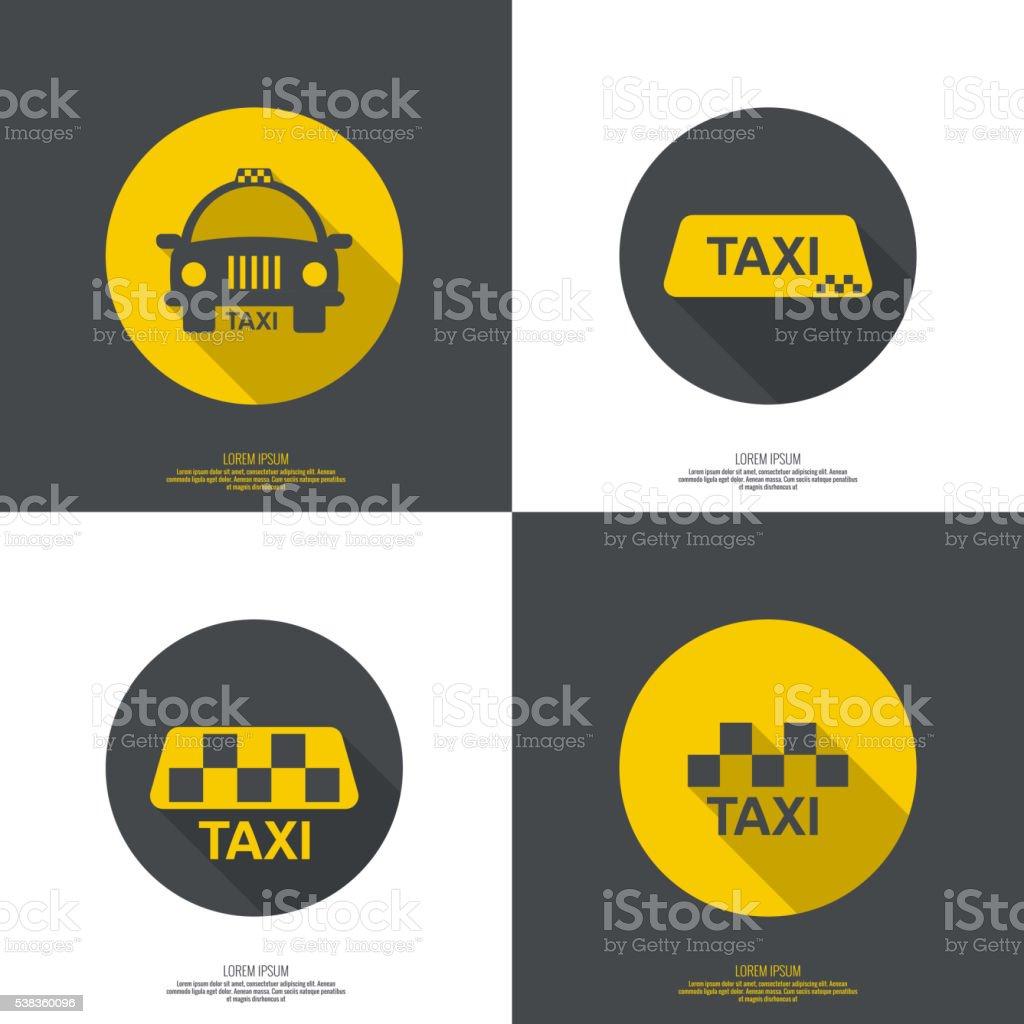 Taxi sign vector art illustration