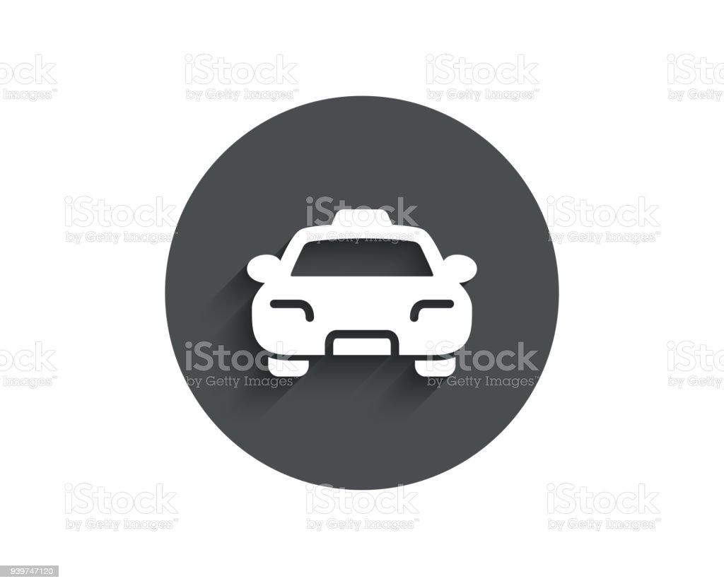 Taxi Einfaches Symbol Clienttransportzeichen Stock Vektor Art und ...