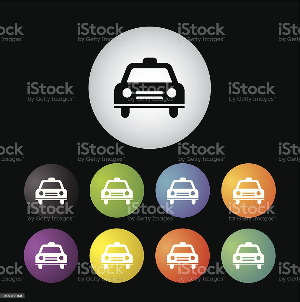 Taxi symbol  button set royalty-free stock vector art