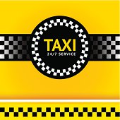 Taxi symbol, square. Vector illustration saved in file format EPS v. 10 and contains transparent effect.