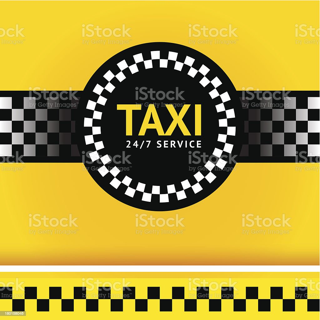 Taxi symbol, square vector art illustration