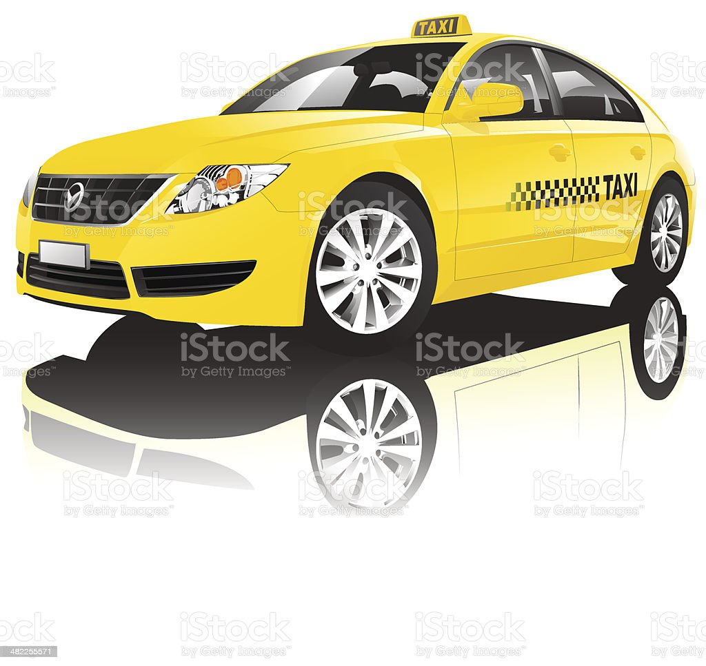 Taxi vector art illustration