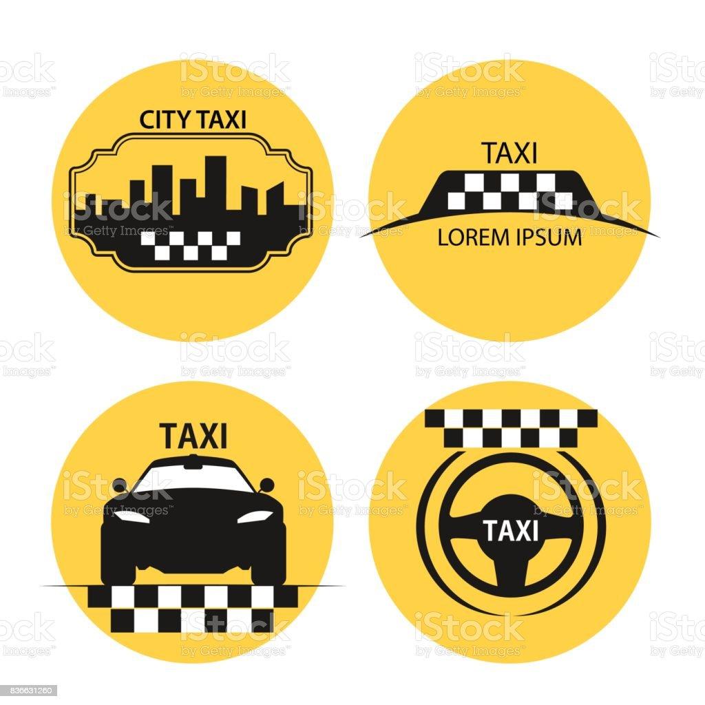 taxi vector vector art illustration