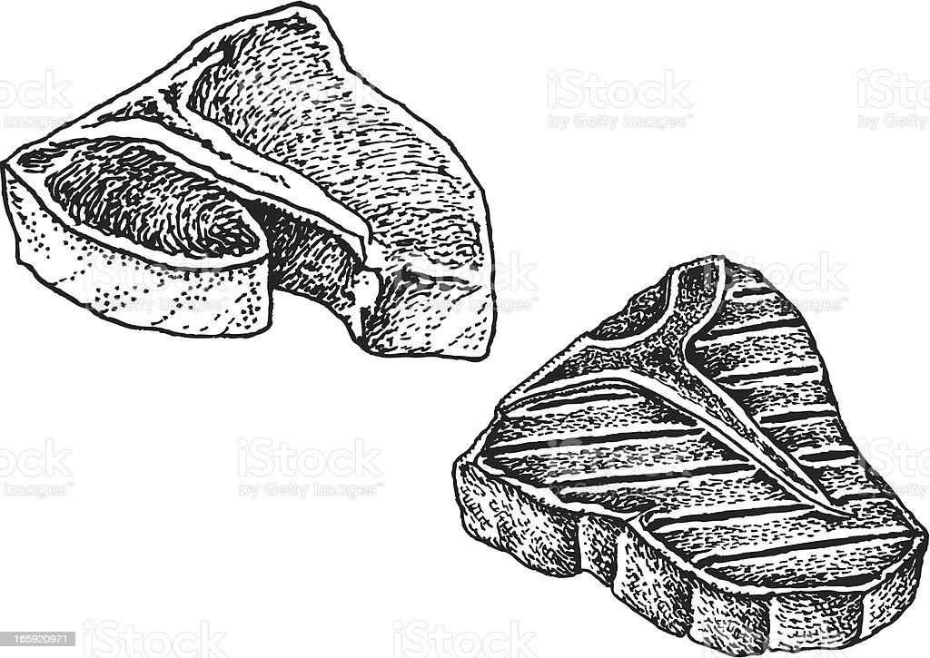 T-Bone Steak vector art illustration