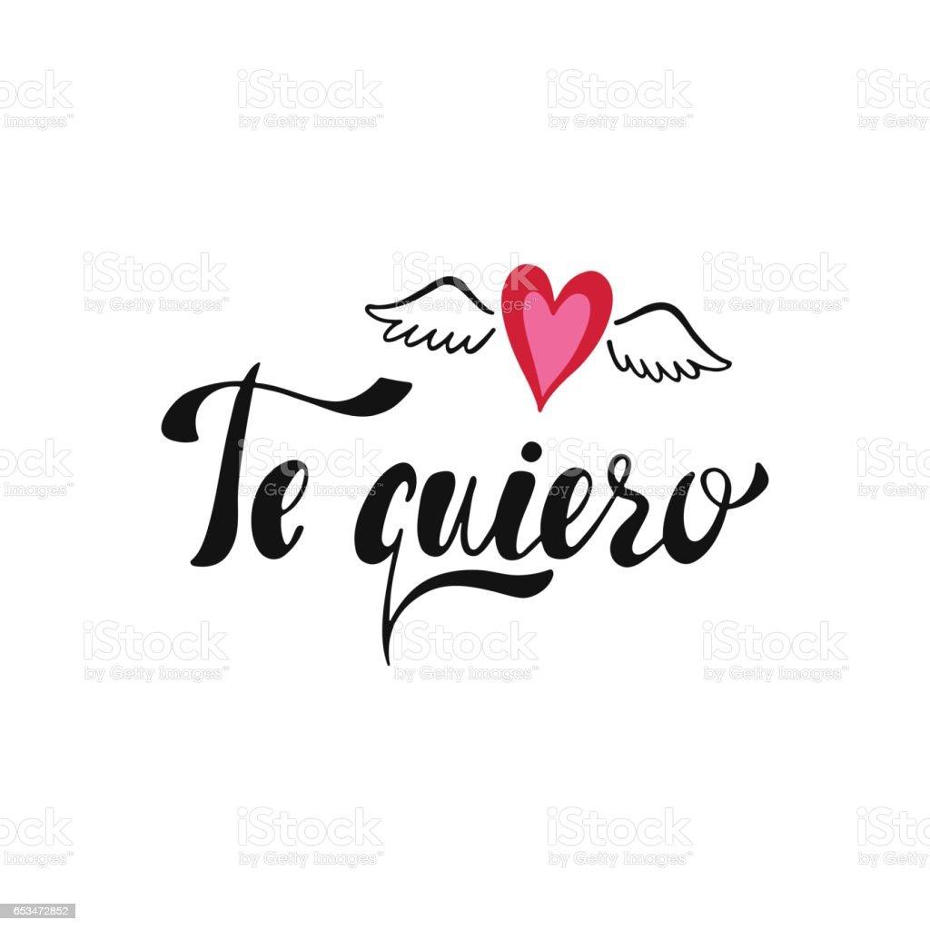 Te Quiero Declaration Of Love In Spanish Stock Vektor Art Und Mehr