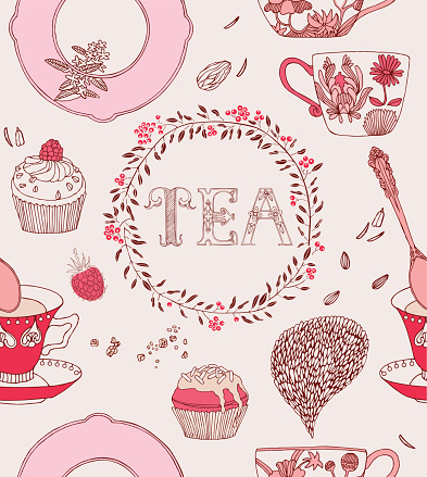 Tea and different kind of sweets