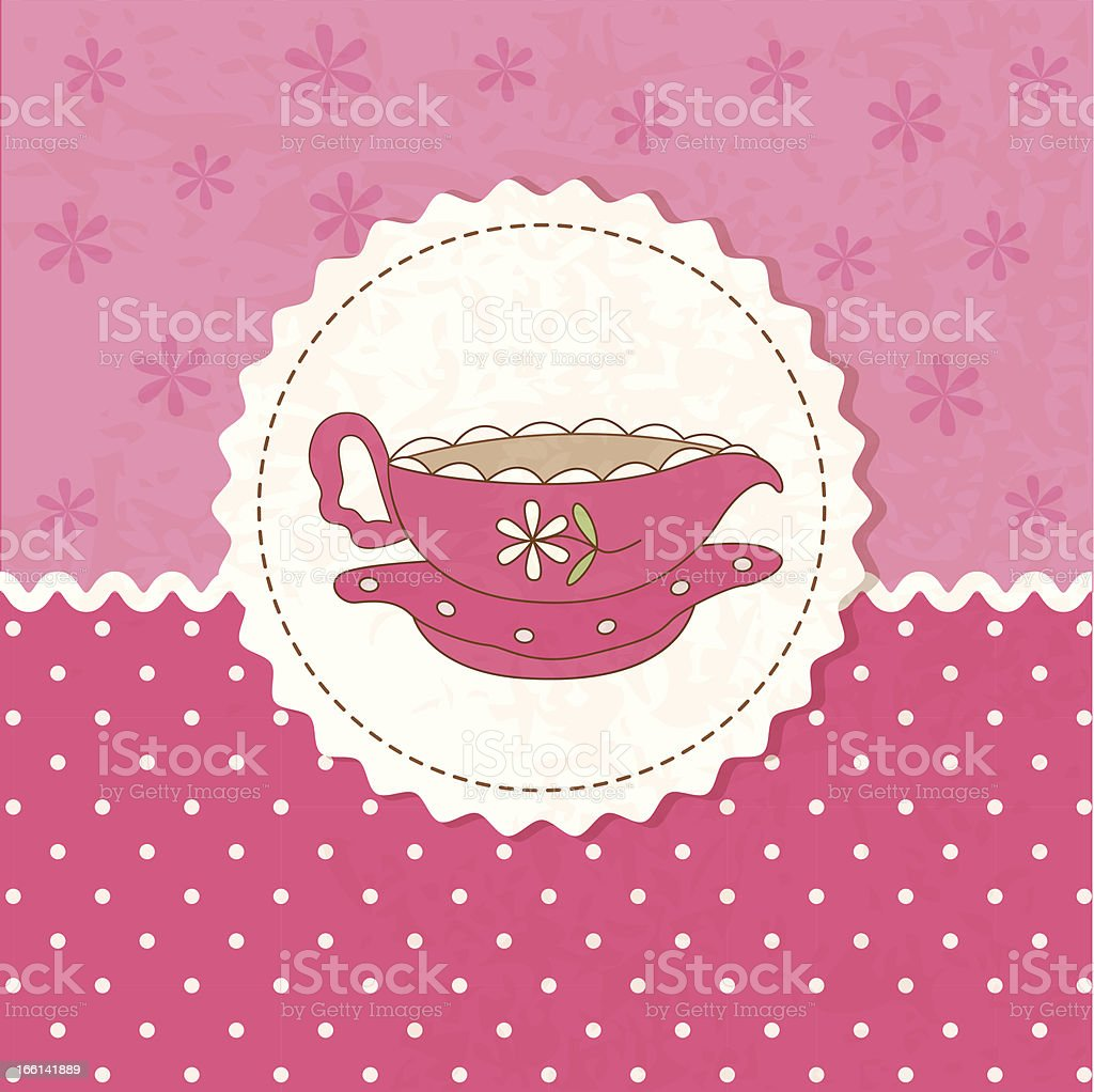 Tea background royalty-free stock vector art