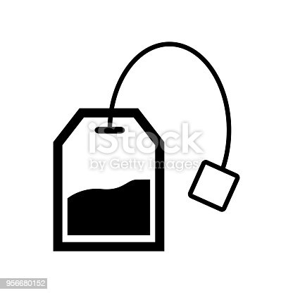 tea bag icon vector