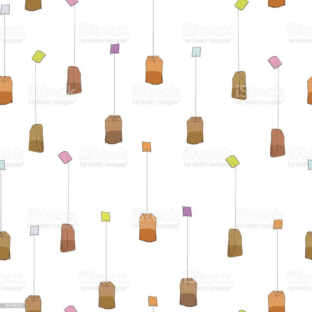 Tea bag pattern royalty-free stock vector art
