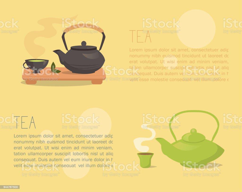 Tea Ceremony Banner Teapot Stock Vector Art & More Images of Art ...
