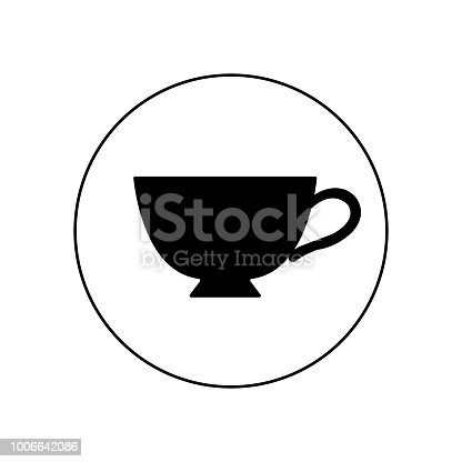 tea cup icon - vector coffee mug illustration