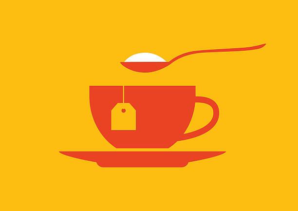 ilustrações de stock, clip art, desenhos animados e ícones de ícone de chá - açúcar