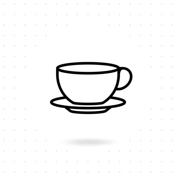 ティーカップアイコン - バリスタ点のイラスト素材/クリップアート素材/マンガ素材/アイコン素材