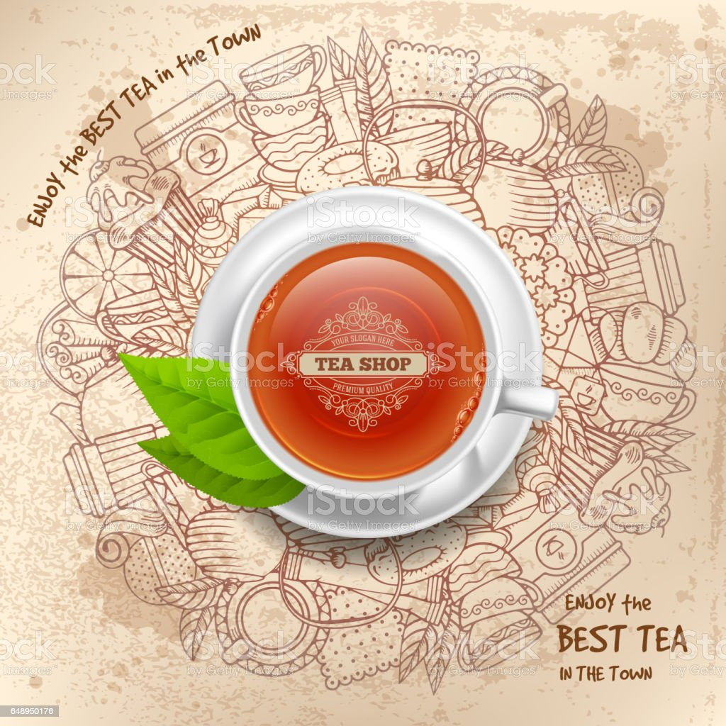 Tea Design vector art illustration