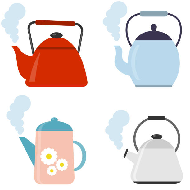 Tea. Fresh brewed tea - teapot, pour in a cup of tea. Vector illustration of logo for ceramic teapot, kettle on background. Teapot pattern consisting. Tea. Fresh brewed tea - teapot, pour in a cup of tea. Vector illustration of logo for ceramic teapot, kettle on background. Teapot pattern consisting. teapot stock illustrations