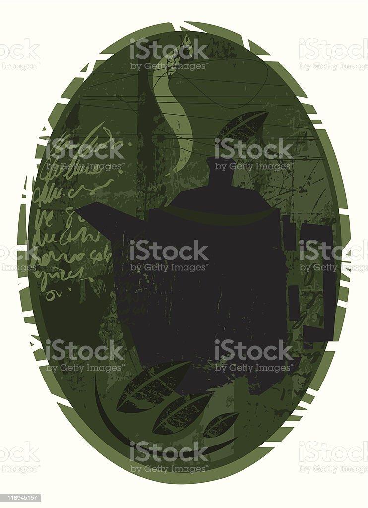 Tea Grunge royalty-free stock vector art