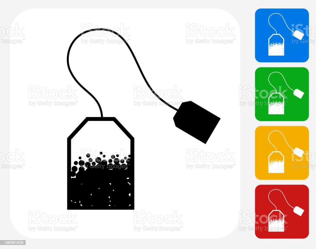 Tea Icon Flat Graphic Design vector art illustration