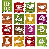 Tea icon set - 2