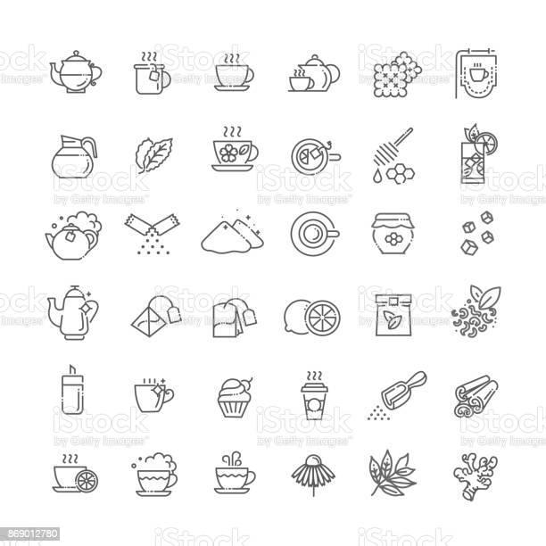 Tea icon set thin line vector illustration vector id869012780?b=1&k=6&m=869012780&s=612x612&h=iu6ofioo hzwh0purvos2nwekkc7y8na7vlezqtn1mm=
