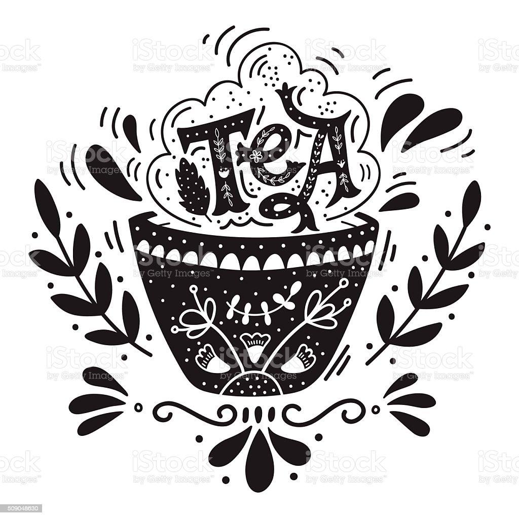 Tea Is Not A Drink Its A Hug Quote Stockvectorkunst En Meer Beelden