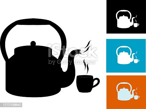 tea kettle , All elements are in separate layers color can be changed easily