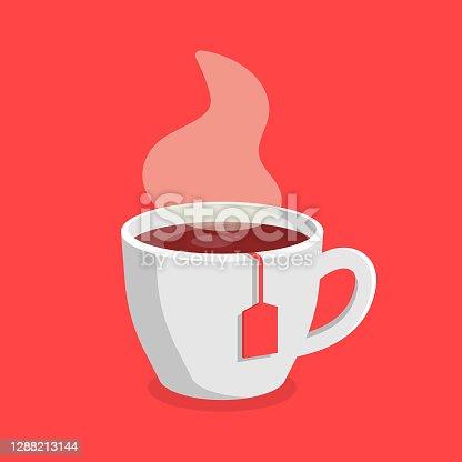 istock Tea Mug Icon Vector Design. 1288213144