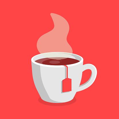 Tea Mug Icon Vector Design.